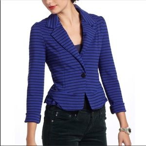 Anthropologie Cartonnier Navy Striped Blazer S A1